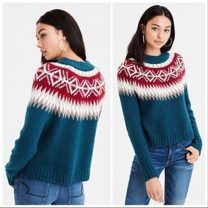 American Eagle Outfitters Fair Isle Sweater